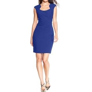 Calvin Klein Womens Cocktail Dress Pleated Knee-Length