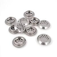 Unique Bargains 10 Pcs 3.2mm Hole 25mm Dia Stainless Steel Round Shape Mesh Air Vent