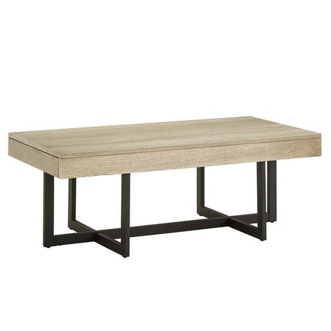 Eldersley Wood Finish Coffee Table with Two Drawers by iNSPIRE Q Modern