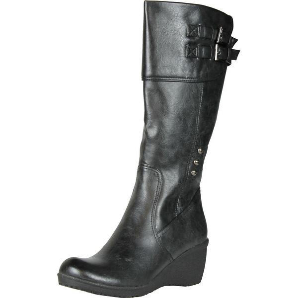 Enigma Womens Bc613 Fashion Boots With Buckle Detail