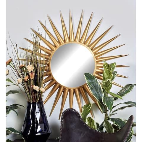 Gold Tin Glam Wall Mirror 42 x 42 x 2 - 42 x 42
