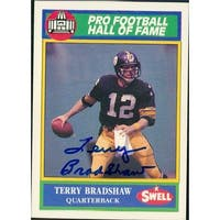 Signed Bradshaw Terry Pittsburgh Steelers 1990 Swell Football Card autographed