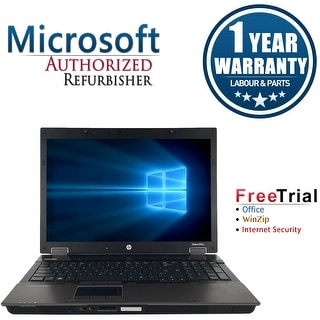 "Refurbished HP EliteBook 8740W 17"" Laptop Intel Core I5 520M 2.4G 4G DDR3 500G DVD Win 7 Professional 64 1 Year Warranty - Black"