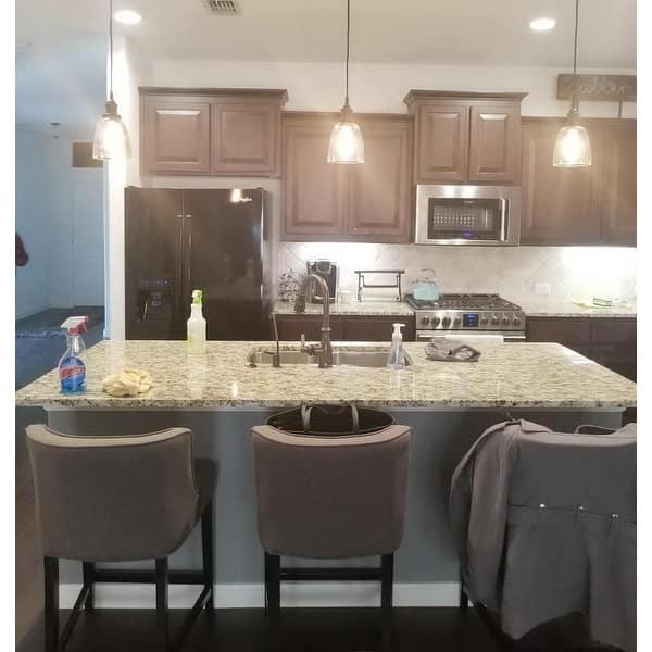 Shop Mini Glass Bell Oil Rubbed Bronze Kitchen Island Pendant Lighting On Sale Overstock 30077622 Oil Rubbed Bronze