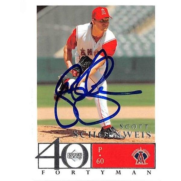 Scott Schoeneweis Autographed Baseball Card 2003 Upper Deck Fort
