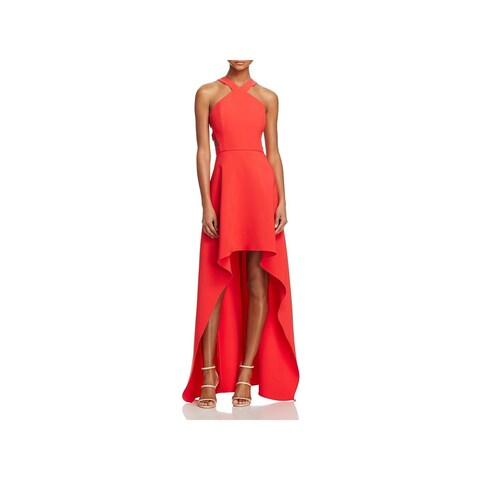 BCBG Max Azria Womens Rosalinda Evening Dress Woven Full-Length