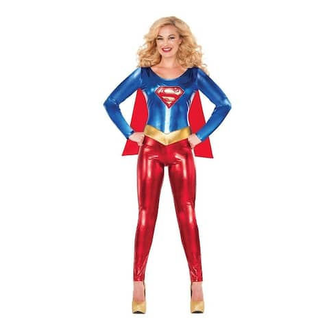DC Comics Classic Supergirl Adult Costume - Red