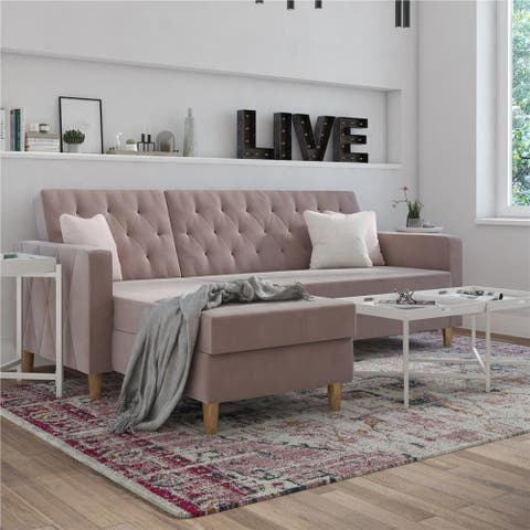 CosmoLiving by Cosmopolitan Liberty Sectional Futon with Storage