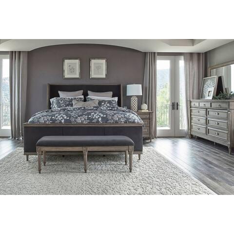 The Gray Barn Peony Road French Grey Panel Bedroom Set