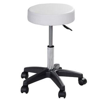 Costway Adjustable Massage Spa Beauty Seat Rolling Swivel Bar Stool white
