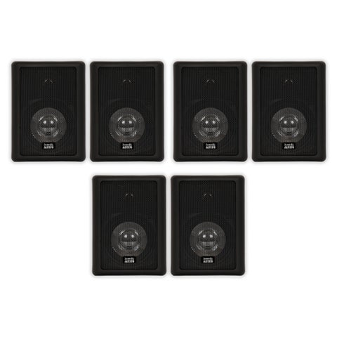 Acoustic Audio 151B Indoor Outdoor 2 Way Speakers 1800W 3 Pair Pack 151B-3Pr