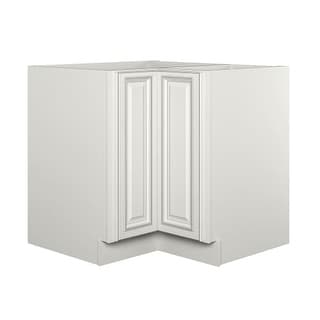 "Sunny Wood SLB36DC-A Sanibel 36"" Diagonal Corner with Lazy Susan Base Cabinet"