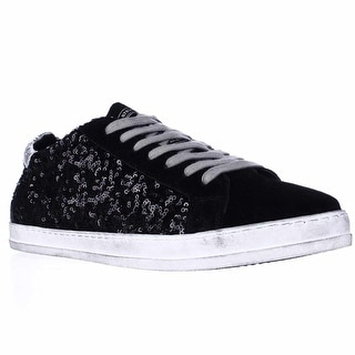 Steve Madden Florence Low Top Sequins Fashion Sneakers - Black Multi