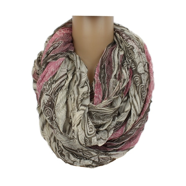 8f3ea89b9 Shop Apt. 9 Damask Extra Wide Textured Infinity Scarf Wrap - Large - Free  Shipping On Orders Over $45 - Overstock - 15269044