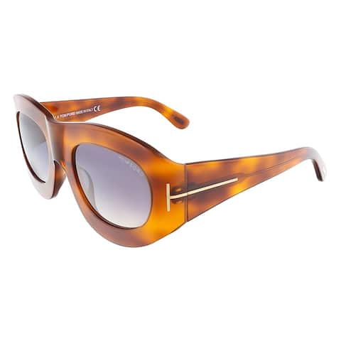 Tom Ford FT0403/S 52B MILA Havana Oval sunglasses