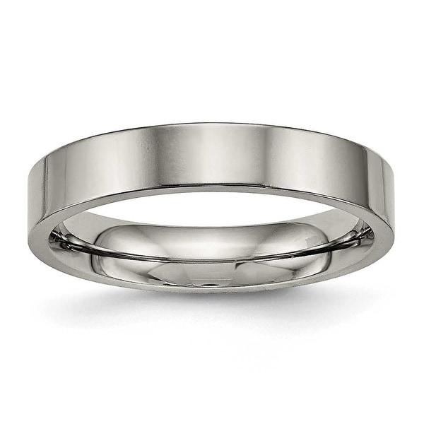 Titanium Polished Flat Comfort Back Ring (4 mm)