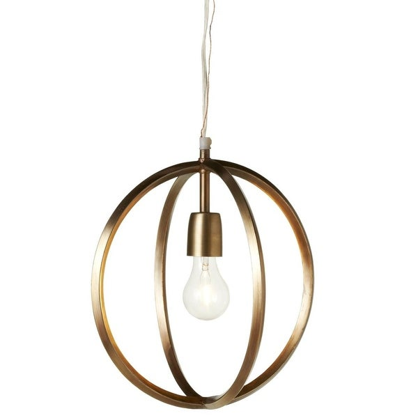"12.25"" Metallic Gold Colored Hanging Circles Caged Decorative Pendant"