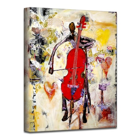 'In the Groove' Abstract Wrapped Canvas Wall Art