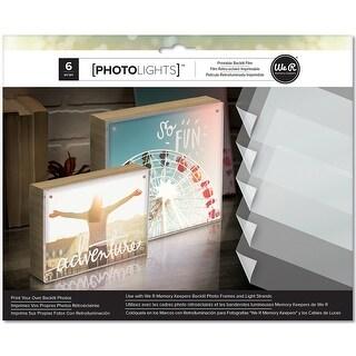 """We R Photolights Printable Backlit Film Paper 8.5""""X11"""" 6/Pkg-"""