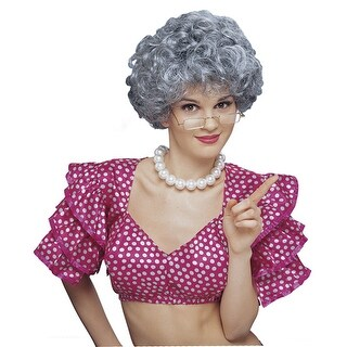 Womens Grey Middle Aged Housewife Costume Accessory Wig - standard - one size