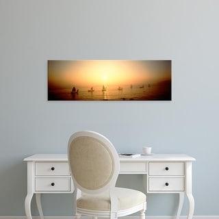 Easy Art Prints Panoramic Images's 'Boats Shantou China' Premium Canvas Art