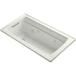 """Kohler K-1122 Archer Collection 60"""" Drop In Jetted Whirlpool Bath Tub with Reversible Drain"""