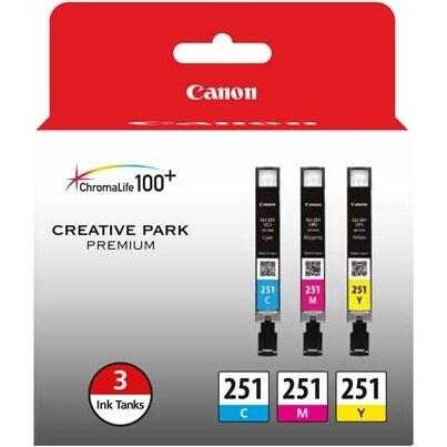 """Canon CLI-251 Ink Cartridge 3-pack Canon CLI-251 Ink Cartridge - Cyan, Magenta, Yellow - Inkjet - 3 / Pack"""