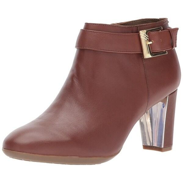 Aerosoles Womens third avenue Leather Almond Toe Ankle Fashion Boots