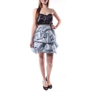 TRIXXI $252 New 1039 Black Blue Color Block Beaded Bubble Dress Juniors 9 B+B