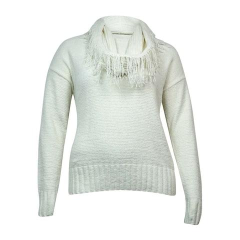 Charter Club Women's Detachable Fringe Chenille Sweater