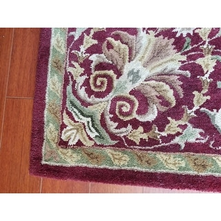"Safavieh Handmade Heritage Timeless Traditional Red Wool Rug - 7'-6"" x 9'-6"""