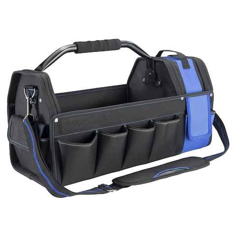 Vaughan 20 inch 16 Pocket Tool Tote Steel Handle Removable Tool Caddy - 240159