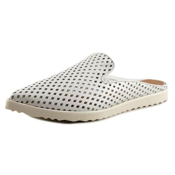 All Black Perforated Sneaker Slide Women Open Toe Leather White Slides Sandal