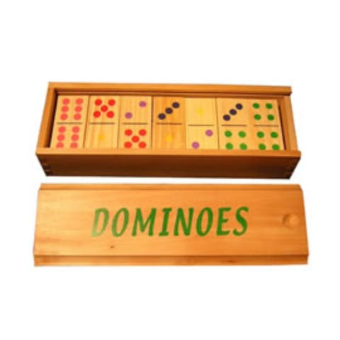 Wood Color Dot Dominoes