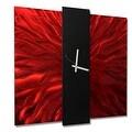 Statements2000 Red / Black 24-inch Metal Hanging Wall Clock - Lavish Mechanism - Thumbnail 0