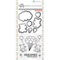 "Mama Elephant Stamp & Die Set 4""X8""-Up We Go"
