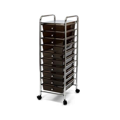Seville Classics 10-drawer Organizer Rolling Cart