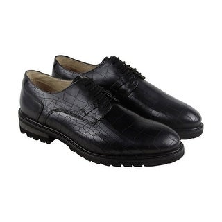 GBX Brenner Mens Black Leather Casual Dress Lace Up Oxfords Shoes (More options available)