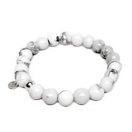 """White Howlite Lucy 7"""" Bracelet