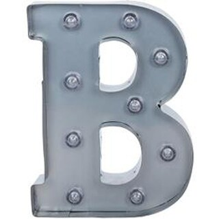 "Silver Metal Marquee Letter 9.875""-B"