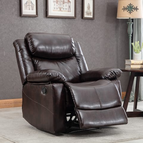 PU Leather Heated Massage Recliner Sofa Ergonomic Lounge with 8 Vibration Points