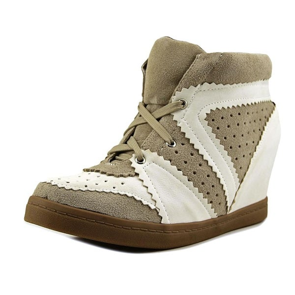 N.Y.L.A. Railler Women Round Toe Leather White Sneakers