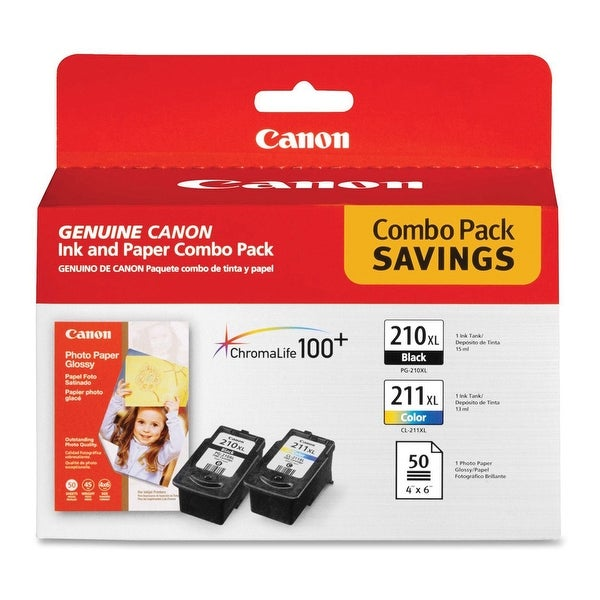 Canon Ink and Paper Combo Pack 210XL-CL-211XL Ink and Paper Combo Pack