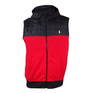 Polo Ralph Lauren Men's Paneled Full-Zip Vest (L, Red/Black) - Red/black|https://ak1.ostkcdn.com/images/products/is/images/direct/9769b5bac569f59e5dd9c3e8000dfb8d103ddac3/Polo-Ralph-Lauren-Men%27s-Paneled-Full-Zip-Vest-%28L%2C-Red-Black%29.jpg?impolicy=medium