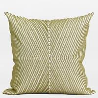 "G Home Collection Luxury Green Handmade X Shape Textured Beaded Pillow  20""X20"""