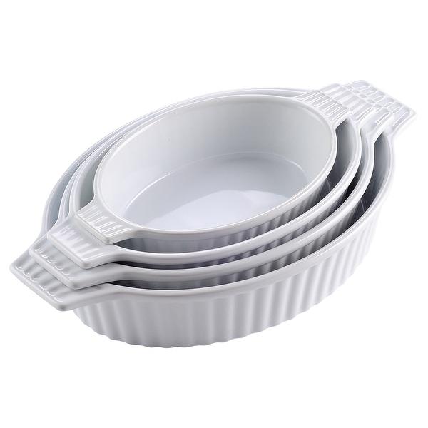 MALACASA 4-Piece Bakeware Set Baking Dishes. Opens flyout.