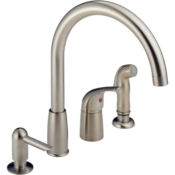 Shop Peerless P188900lf Sssd Single Lever Kitchen Faucet With Soap