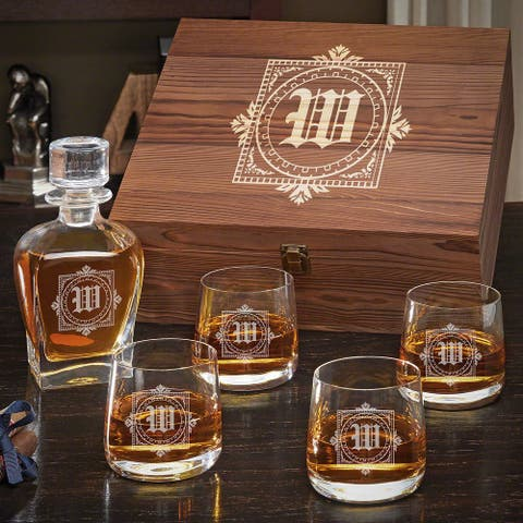 Winchester Personalized Draper Decanter Set with Benson Glasses