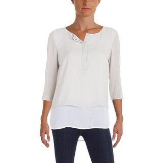 BOSS Hugo Boss Womens Baliana Blouse Layered Crepe