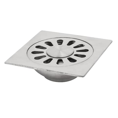 4-inch Stainless Steel Square Shaped Floor Sink Strainer Ground Drainer Filter